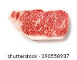 close up wagyu beef striploin... | Shutterstock . vector #390558937