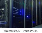 stand with server hardware and... | Shutterstock . vector #390559051