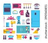 cookware  kettle  grater ... | Shutterstock .eps vector #390560851