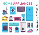 appliances  vacuum cleaner ... | Shutterstock .eps vector #390561181