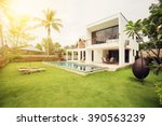 luxury villa resort interior  | Shutterstock . vector #390563239
