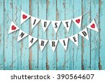 wedding invitation card.... | Shutterstock .eps vector #390564607