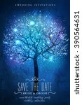 save the date. beautiful magic... | Shutterstock .eps vector #390564631