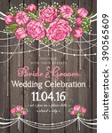 wedding invitation card with... | Shutterstock .eps vector #390565609