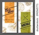 food menu design vegetable... | Shutterstock .eps vector #390565771