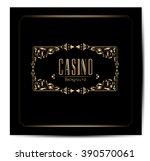 casino logo icon.  | Shutterstock .eps vector #390570061