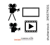 camera and film.video camera... | Shutterstock .eps vector #390579331