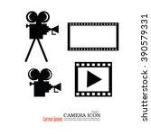 camera and film.video camera... | Shutterstock .eps vector #390579331