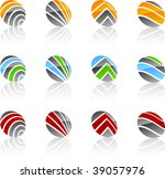 set of abstract vector icons... | Shutterstock .eps vector #39057976