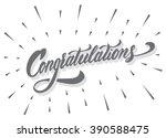 """congratulations"" calligraphic... | Shutterstock .eps vector #390588475"