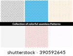 collection of simple colorful... | Shutterstock .eps vector #390592645