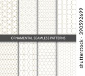 Collection of seamless ornametal patterns.  | Shutterstock vector #390592699