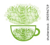 green tea vector illustration | Shutterstock .eps vector #390596719