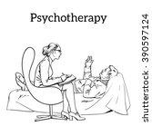 help psychologist.... | Shutterstock .eps vector #390597124