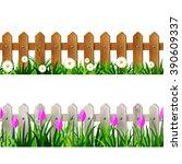 green grass seamless border set   Shutterstock .eps vector #390609337