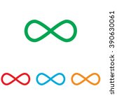 limitless symbol. colorfull set ... | Shutterstock . vector #390630061