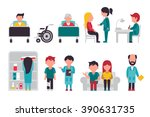 medical staff flat  isolated on ... | Shutterstock .eps vector #390631735