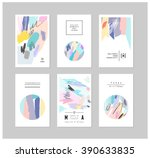 set of creative cards and... | Shutterstock .eps vector #390633835