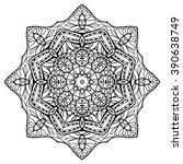black mandala round ornament...   Shutterstock .eps vector #390638749