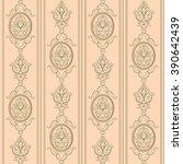 seamless damask pattern. beige... | Shutterstock .eps vector #390642439