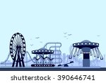 the amusement park night | Shutterstock .eps vector #390646741