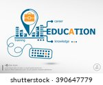 education and marketing concept.... | Shutterstock .eps vector #390647779