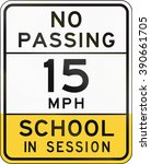 road sign used in the us state... | Shutterstock . vector #390661705