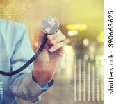 doctor with stethoscope | Shutterstock . vector #390663625