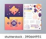 abstract vector brochure flyer... | Shutterstock .eps vector #390664951