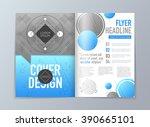 abstract vector brochure flyer... | Shutterstock .eps vector #390665101