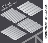 metal roofing and siding ... | Shutterstock .eps vector #390666955