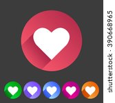 heart  love icon flat web sign... | Shutterstock .eps vector #390668965