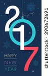 happy new 2017 year. colorful... | Shutterstock .eps vector #390672691