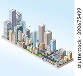urban three dimensional 3d ... | Shutterstock .eps vector #390675499
