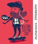 hipster  skater vector design | Shutterstock .eps vector #390686494