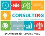 consulting design illustration...   Shutterstock .eps vector #390687487