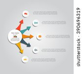 infographic report template... | Shutterstock .eps vector #390696319