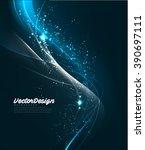 vector wave abstract design | Shutterstock .eps vector #390697111