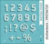 flat design type font. retro... | Shutterstock .eps vector #390706735