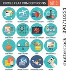 circle colorful concept icons....   Shutterstock . vector #390710221