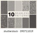 set of ten vector seamless...   Shutterstock .eps vector #390711019