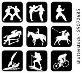 set of vector icons. sports | Shutterstock .eps vector #39072685