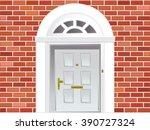 front door vector eps 8. | Shutterstock .eps vector #390727324