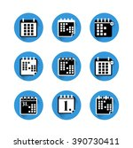 set  collection  group of blue... | Shutterstock .eps vector #390730411
