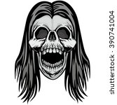 skull coat of arms | Shutterstock .eps vector #390741004