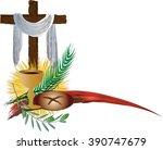 eucharist symbols of bread and...