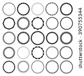 collection of round decorative... | Shutterstock .eps vector #390755344
