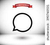 speech bubble vector icon