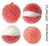 Isolated Lychees. Collection O...