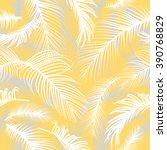 palm leaves seamless pattern | Shutterstock .eps vector #390768829